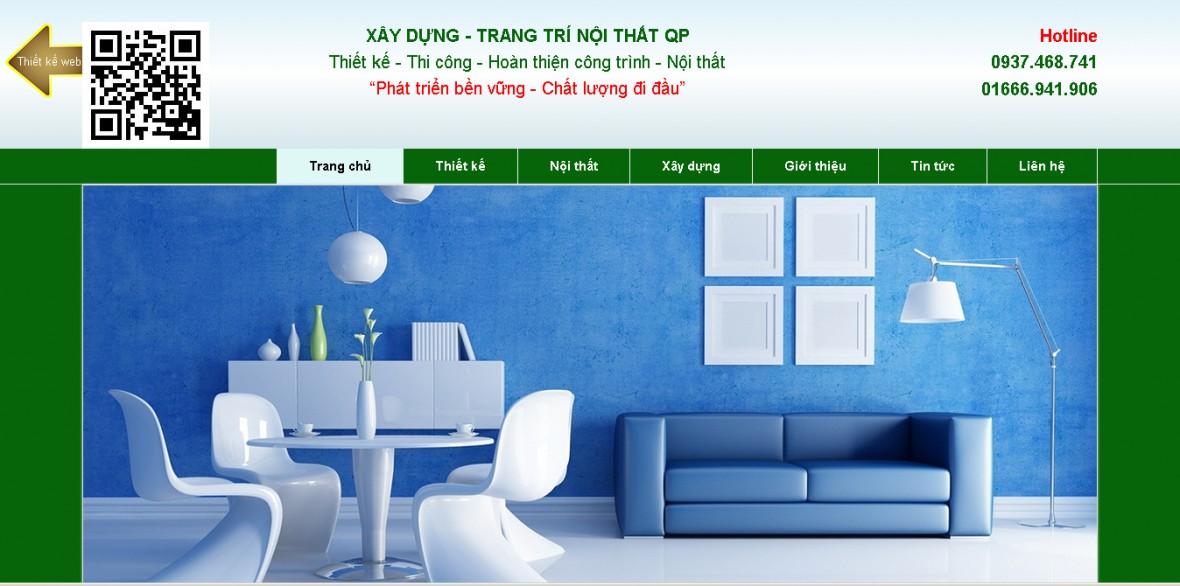 Web template trang trí thiết kế nội thất