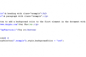JavaScript: phương thức querySelector