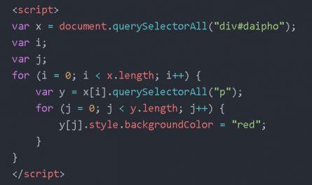 JavaScript: phương thức querySelectorAll