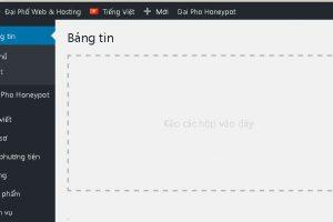 Cách thêm mục tùy chỉnh lên thanh quản trị WordPress