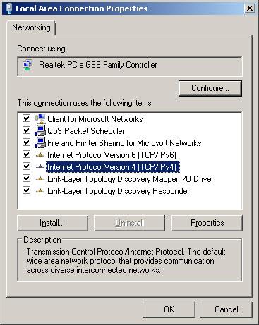 TCP/IPv4 đổi DNS