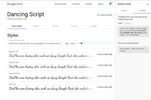 Làm thế nào để sử dụng font chữ của Google cho website