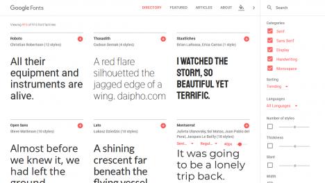 Tải các font chữ đẹp miễn phí từ Google Fonts