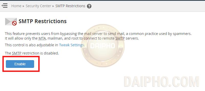 Sửa SMTP-Error b2