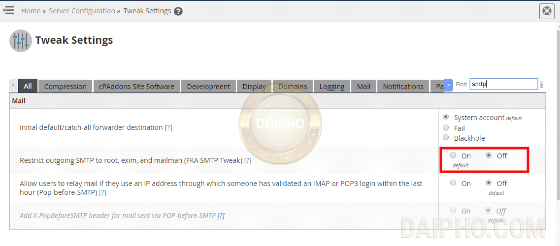 Sửa SMTP-Error b4