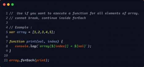 JavaScript: vòng lặp forEach trong mảng