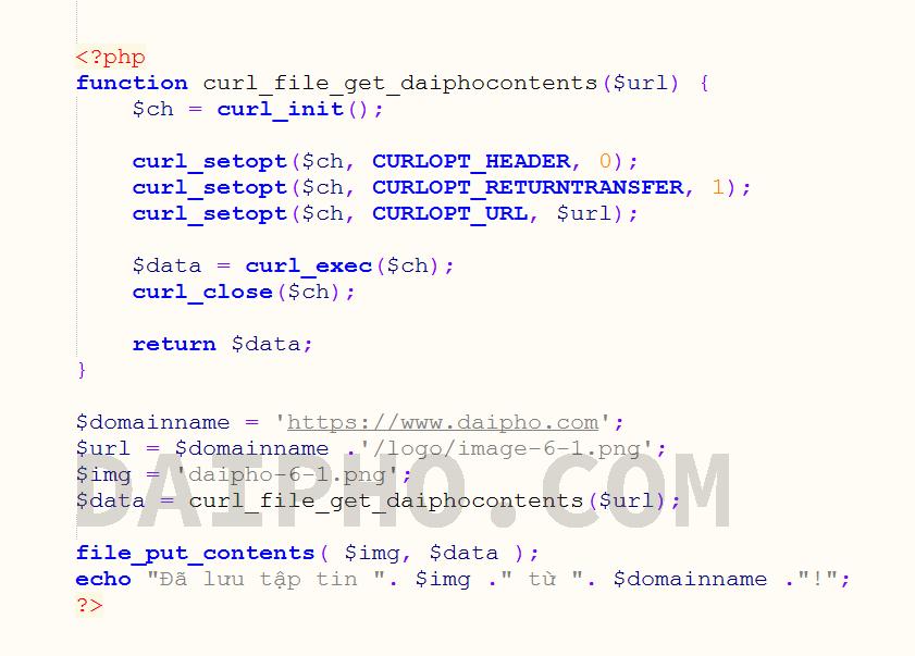 Lưu hình ảnh từ URL trong PHP bằng thư viện cURL
