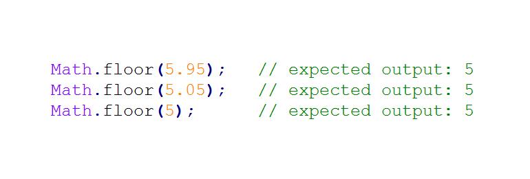 Javascript: Hàm làm tròn xuống một số Math.floor