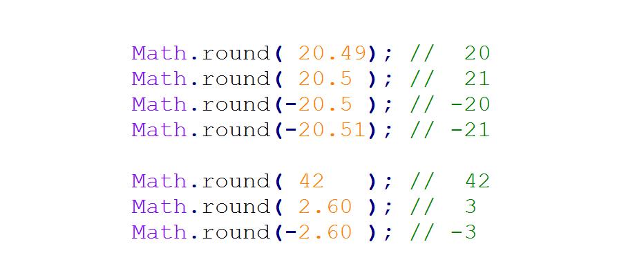 JavaScript: Math.round hàm làm tròn thành số nguyên